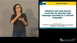 Material and educational curricular for Spanish sign language