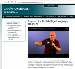 Support for British Sign Language teachers