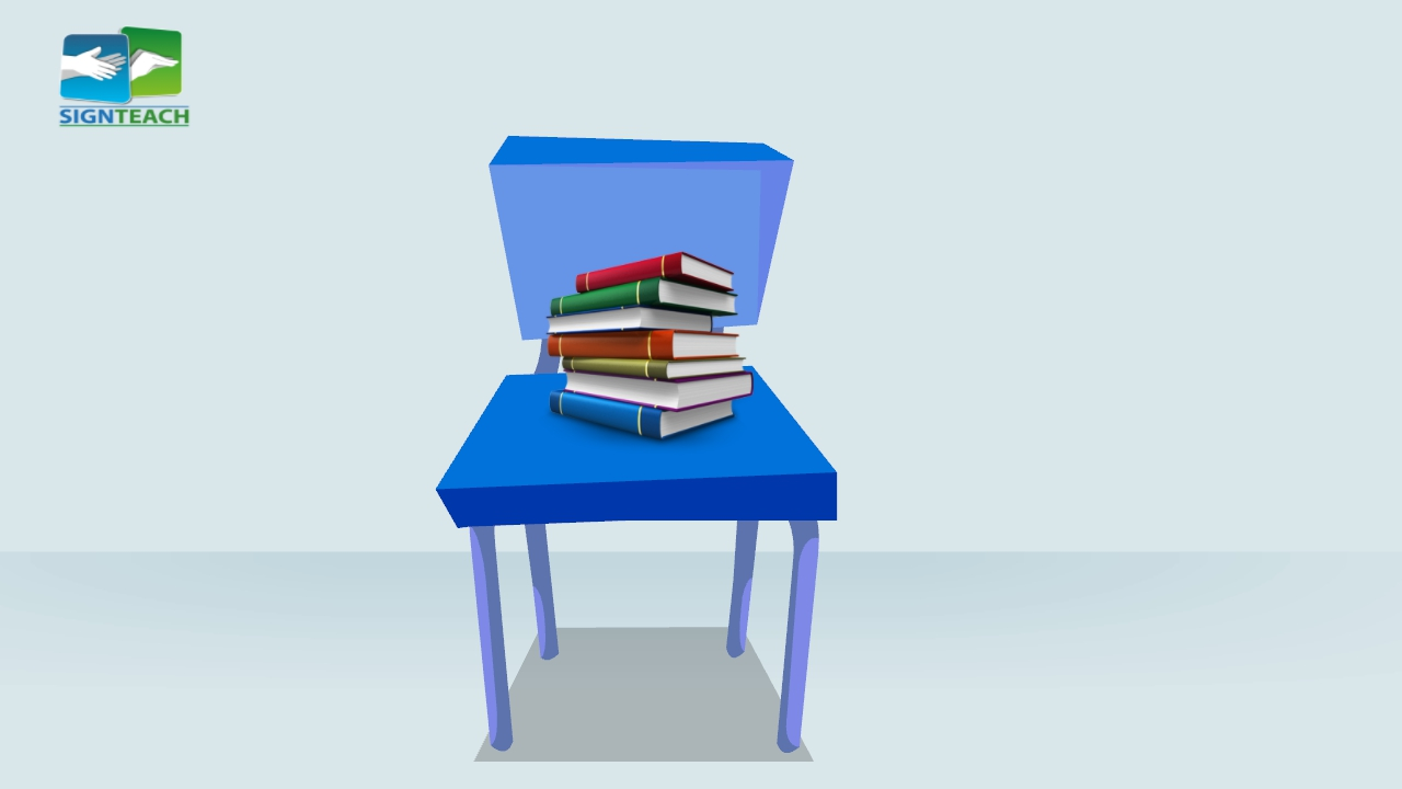 Chair - books - on