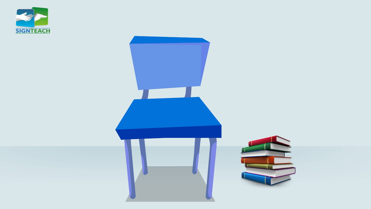 Chair - books - right