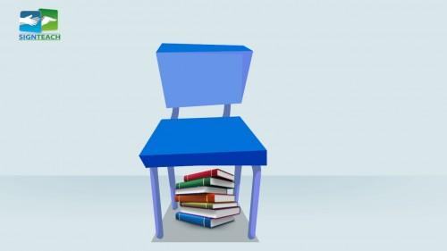 Chair - books - under