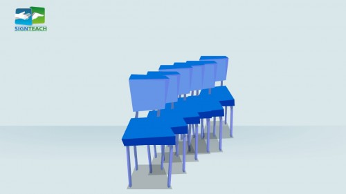 Chair - many - line