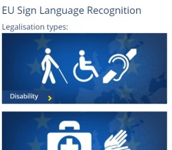 Sign Language Recognition: Legislation Types
