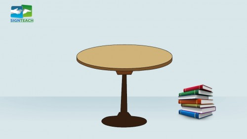 Table - books - right