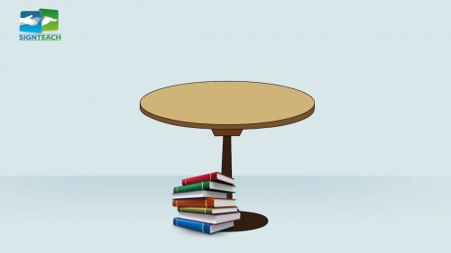 Table - books - under